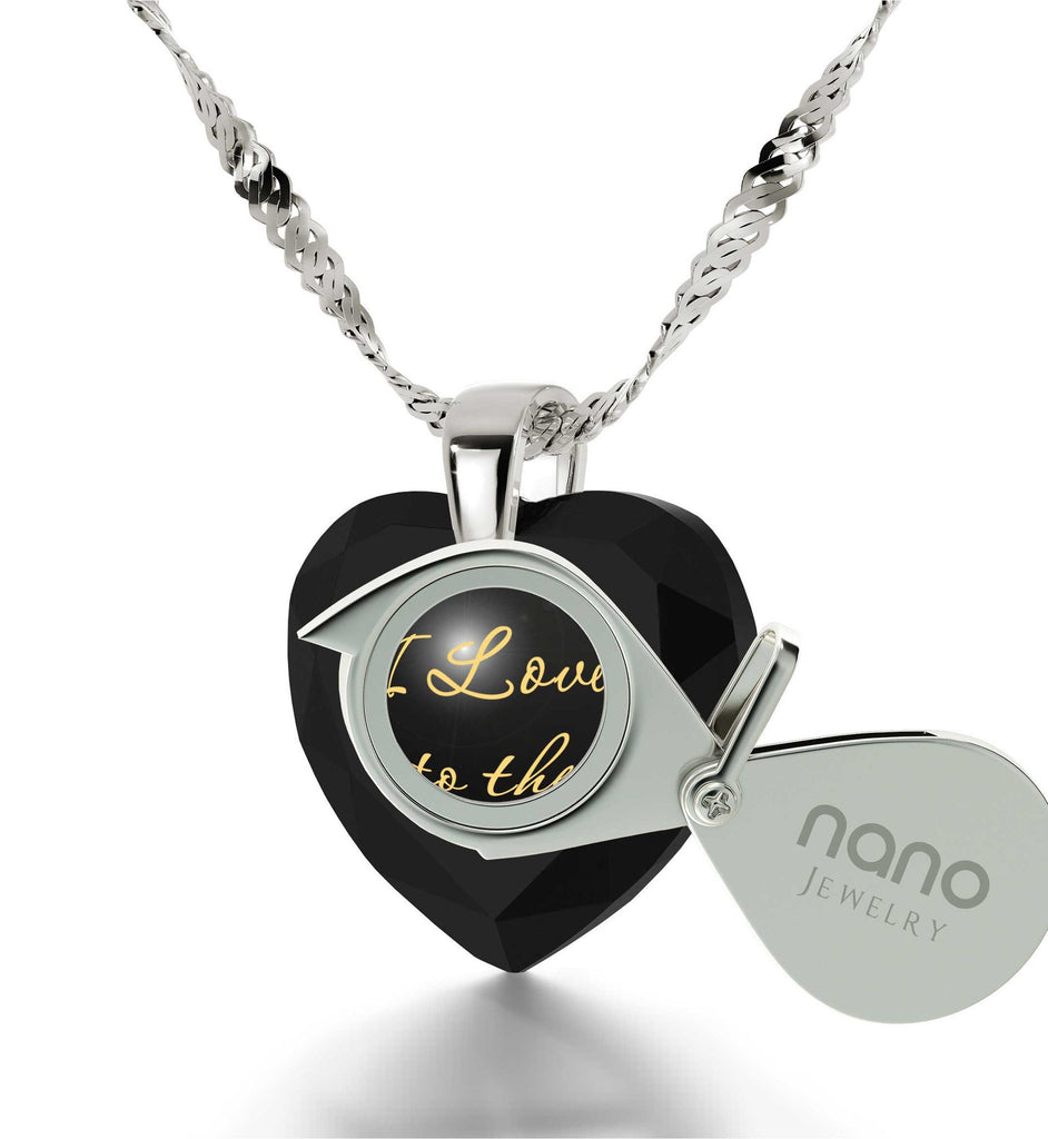 """What to Get Wife for Christmas, 24k Engraved Stone, Cool Xmas Presents, Nano Jewelry"""