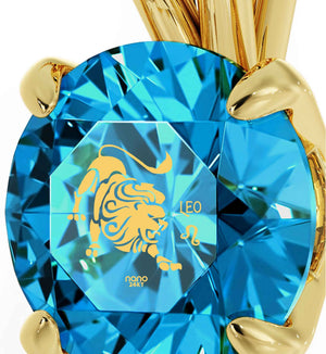 """What to Get Girlfriend for Christmas: Cute Leo Sign CZ Stone Jewelry, Valentine Gift for Wife, by Nano"""