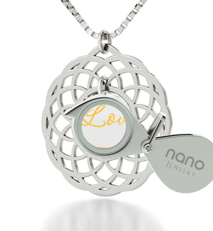 What to Buy My Girlfriend for Christmas, Sterling Silver Mandala Necklace, Great Gifts for Wife, Nano Jewelry