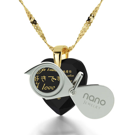 What to Buy My Wife for Christmas, CZ Black Heart, What's My Love Language, Necklaces for Women