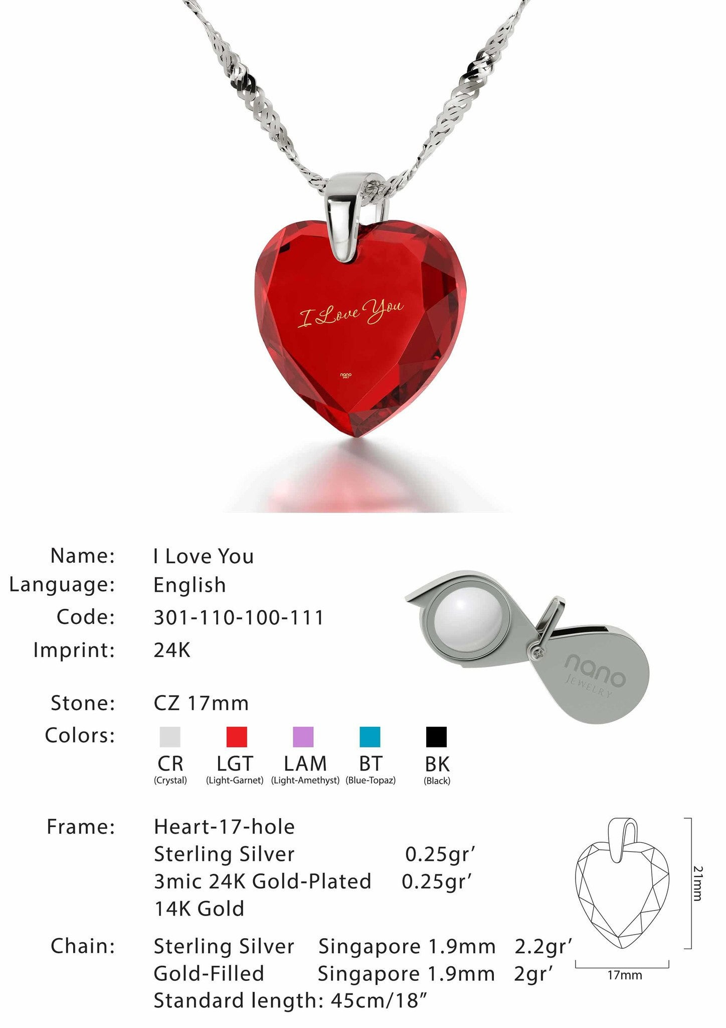 What to Buy My Wife for Christmas, I Love You Engraved Necklaces, Great Gifts for Girlfriend