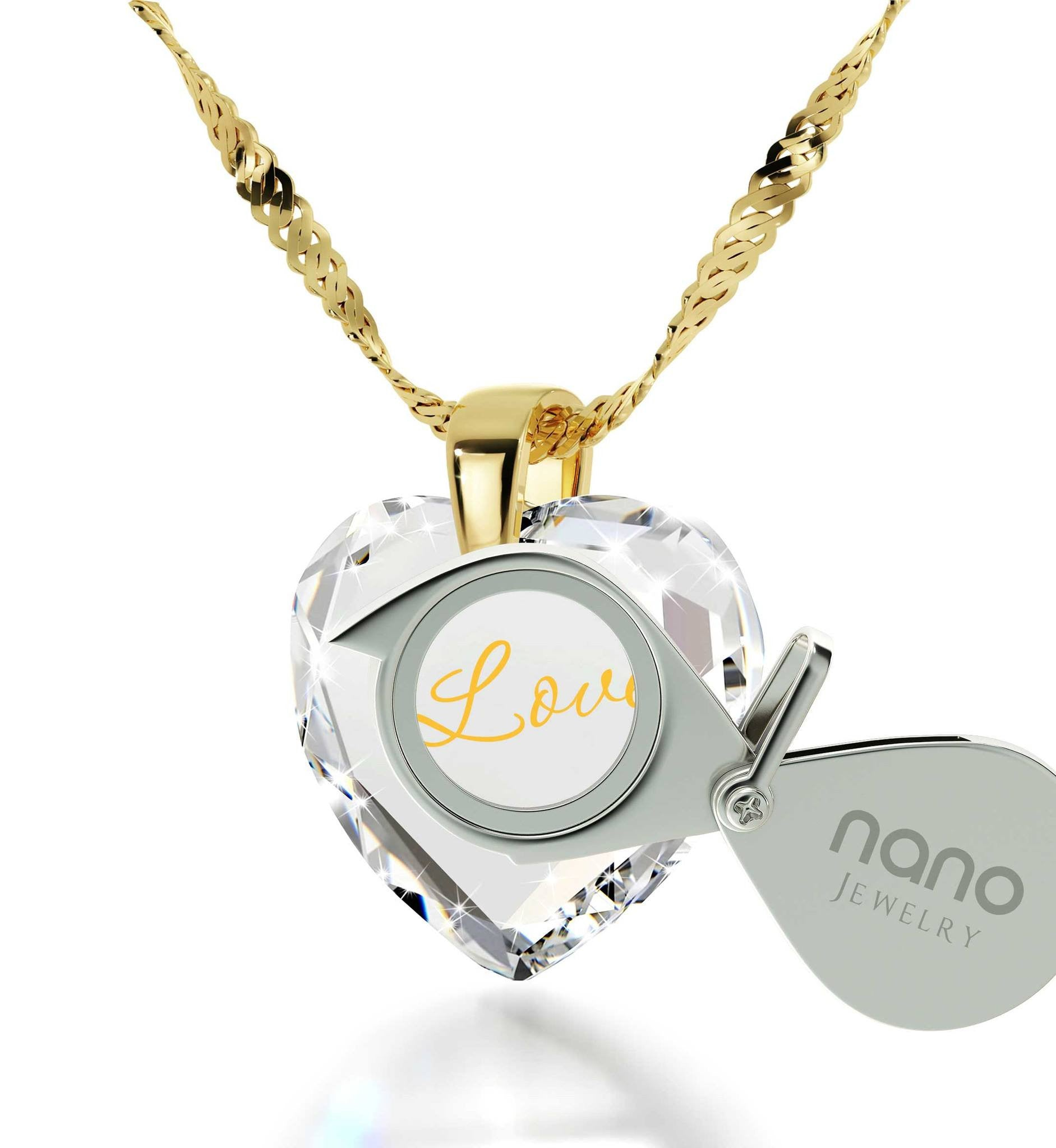 What to Buy My Wife for Christmas, Unique I Love You Gold Necklaces, 21 Birthday Gifts, by Nano Jewelry