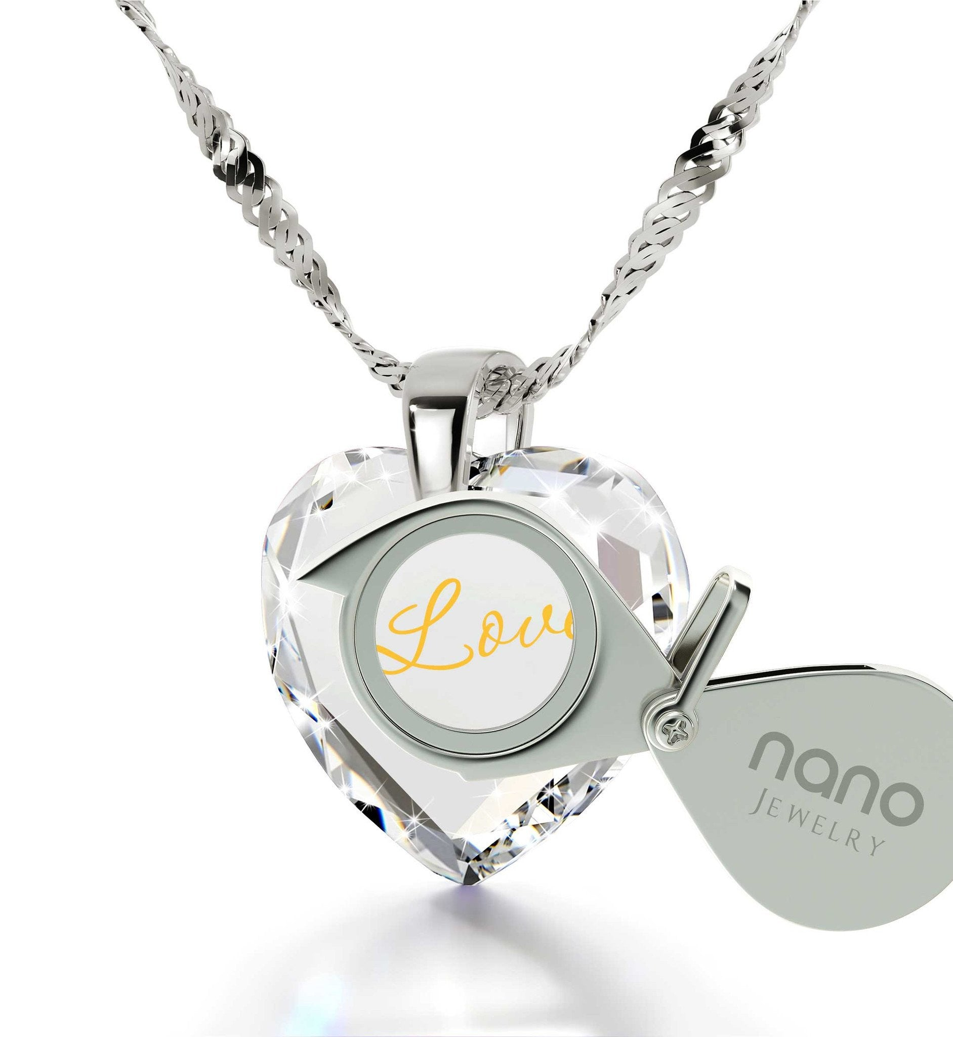 What to Buy My Wife for Christmas, Unique I Love You White Gold Necklaces, 21 Birthday Gifts, by Nano Jewelry