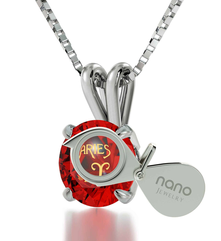 """What to BuyYourGirlfriend for Christmas, ZodiacSignNecklace, AriesPendant, WomensPresents by NanoJewelry"""