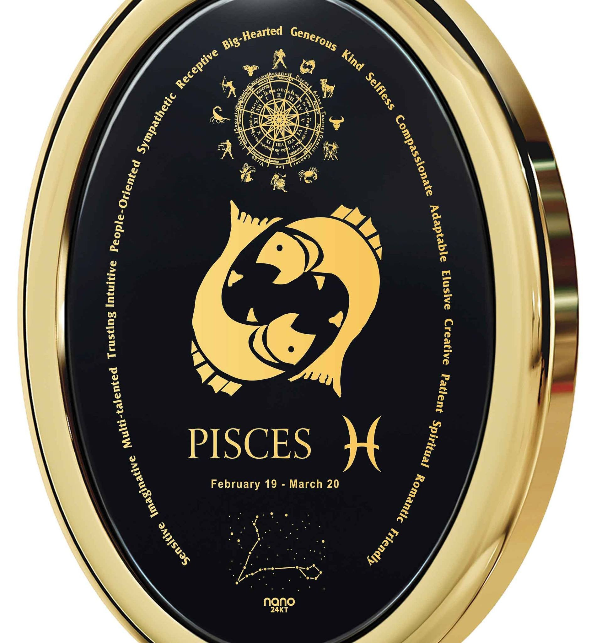 What to Get a Guy for His Birthday: Pisces Horoscope Personality, Mens Gold Pendants, Cool Man Gifts by Nano Jewelry
