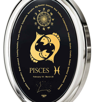 What to Get a Guy for His Birthday: Pisces Horoscope Personality, Mens White Gold Pendants, Cool Man Gifts by Nano