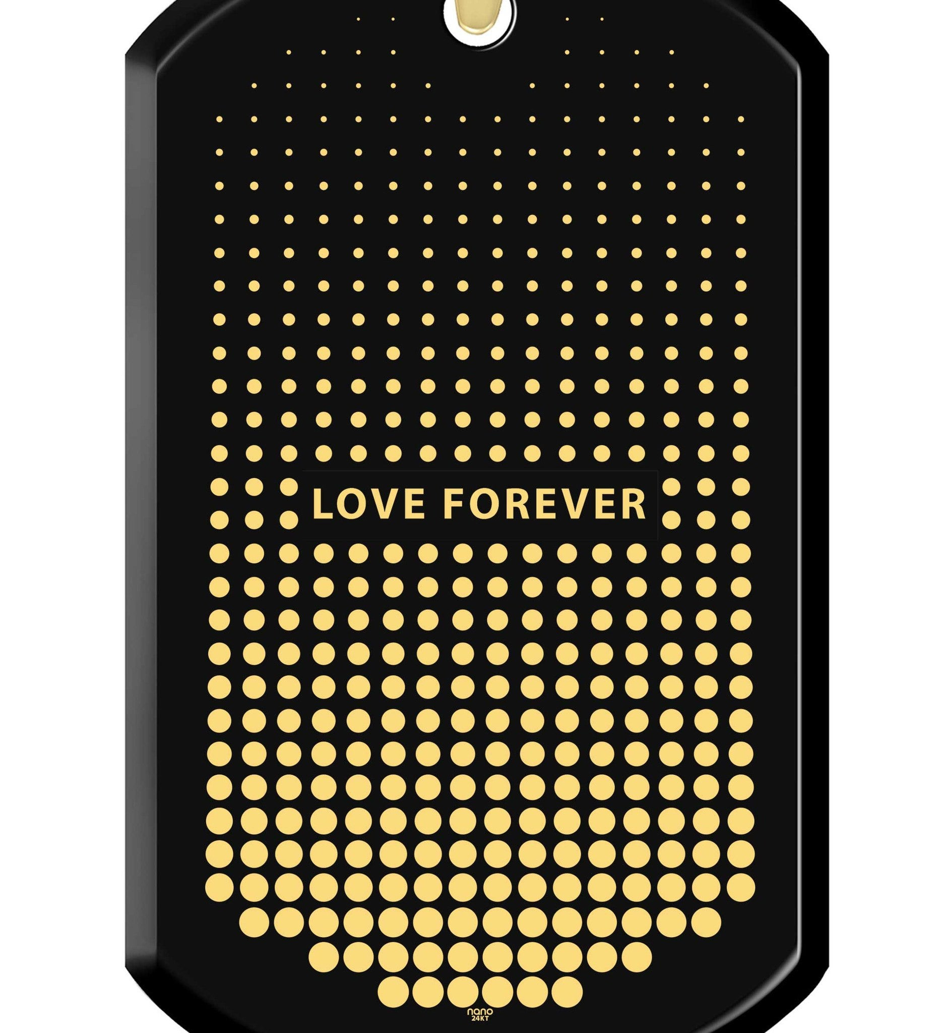 Husband Valentines Gift, Gold Chain with Love Forever Engraved Pendant, What to Get Your Boyfriend for His BirthdayWhat to Get Boyfriend for Birthday, Love Forever Fine Gold Necklace Charms, Mens Christmas Gift Ideas, by Nano Jewelry