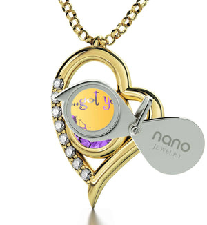 """What to Get Girlfriend for Birthday, Cute Purple Stone Necklace, Women's Gifts for Christmas, by Nano Jewelry"""