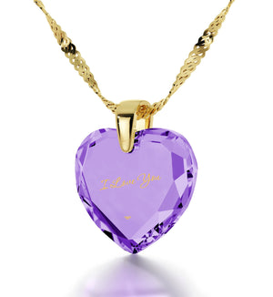 What to Get Girlfriend for Birthday, Gold Chain with Heart Stone Charm, Romantic Ideas for Valentines Day