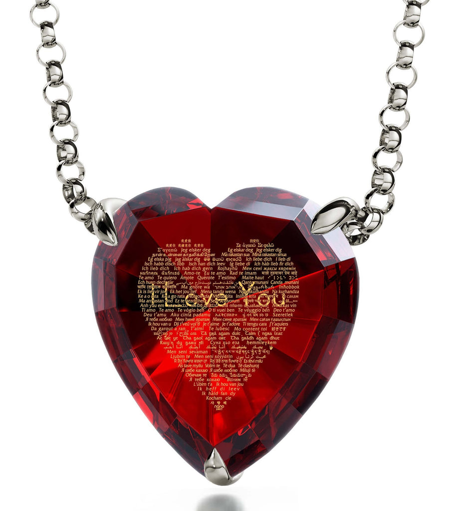 "Creative Gift Ideas Girlfriend: ""I Love You"" in All Languages - Heart - Nano Jewelry"