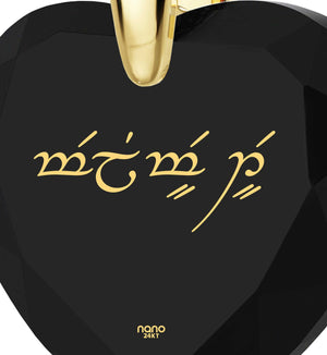 "What to Get Girlfriend for Birthday,""I Love You"" in Elvish, Cool Xmas Presents, Nano Jewelry"