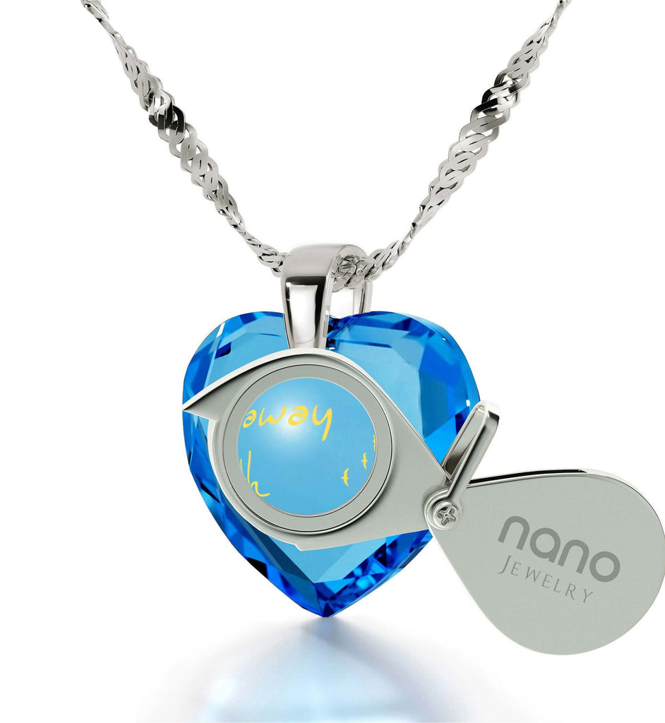 """What to Get Girlfriend for Birthday,""I Would Fly Away With You"" Necklace, Ladies Gift Ideas, by Nano Jewelry"""