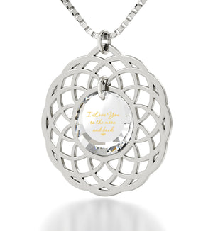 "Top Gifts for Wife,""I Love You to The Moon and Back"", Romantic Birthday Ideas for Girlfriend, Nano Jewelry"