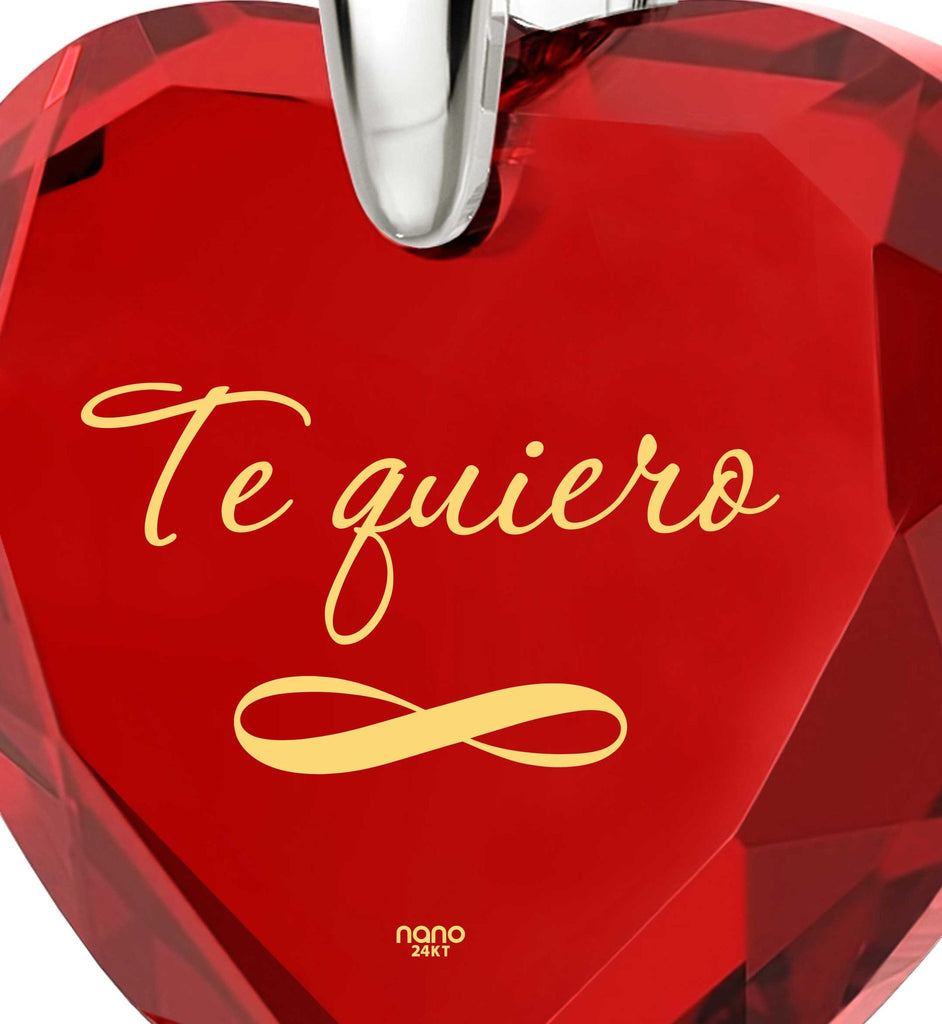 """Valentine's Day Gift Ideas for Girlfriend, Meaningful Necklaces, ""TeQuiero"", Christmas Presents for Wives by Nano Jewelry"""