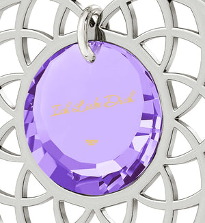 What to Get Girlfriend for Birthday, Purple Pendant, CZ Jewelry, Best Womens Gifts, Nano