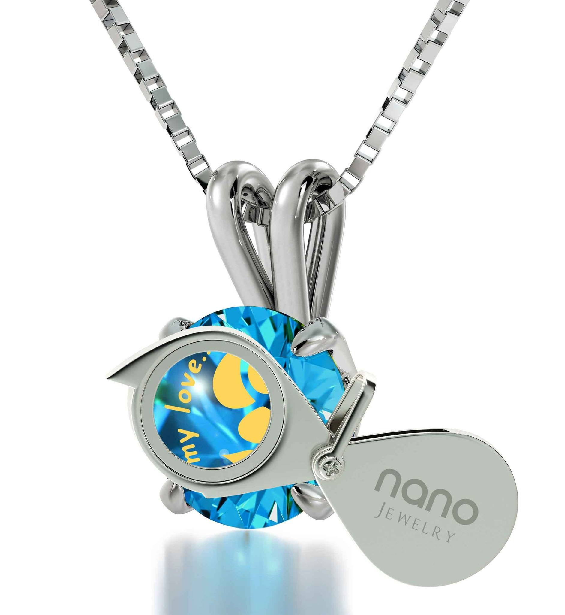 """Unusual Xmas Gifts, Meaningful Silver Necklace, Romantic Ideas for Valentines Day, by Nano Jewelry"""