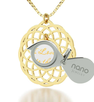 What to Get Girlfriend for Birthday, Gold Filled, 24k Imprint, I Love You to The Moon and Back Jewelry, Nano