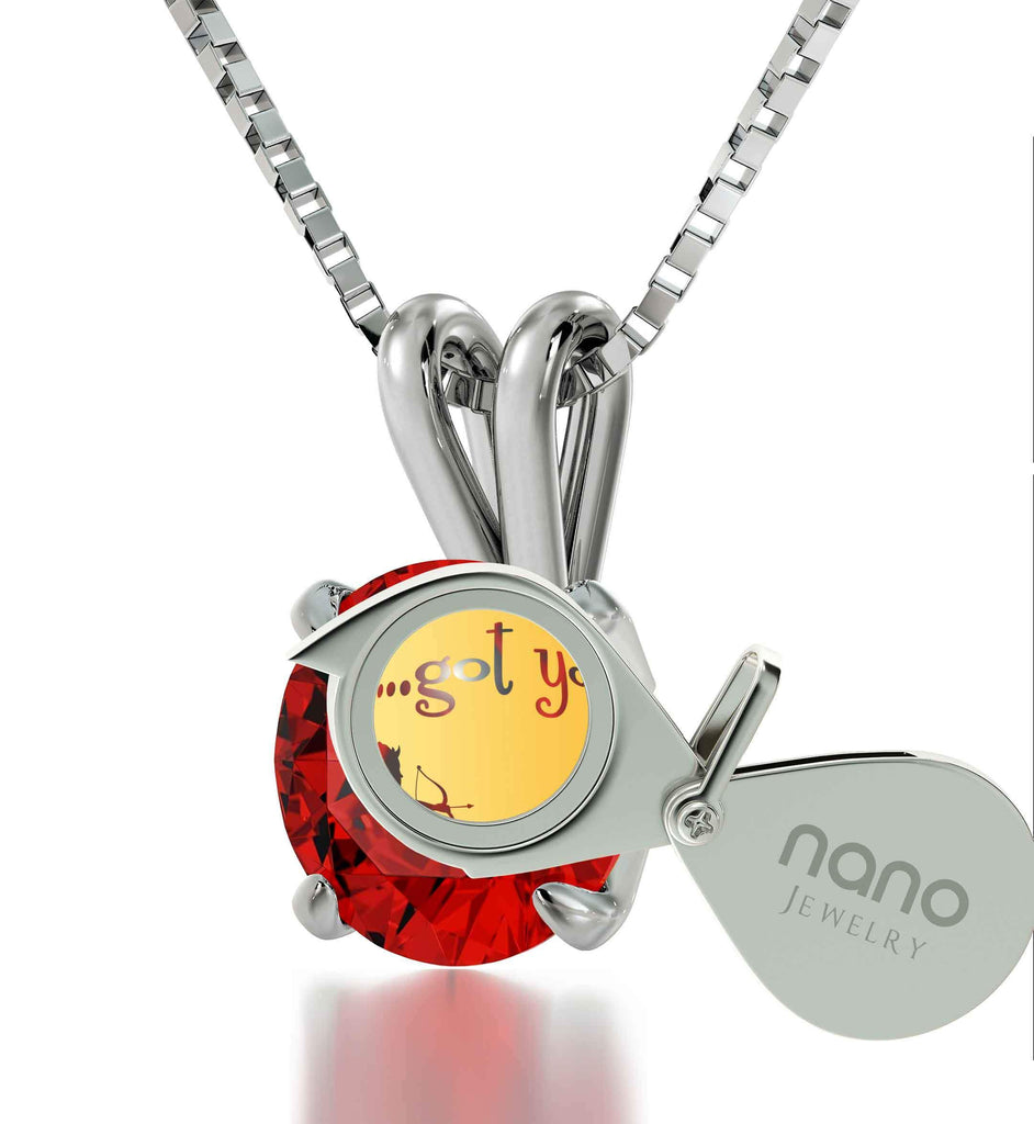 "What to Get Girlfriend for Christmas, Sterling Silver ""...Got You"" Jewelry, Birthday Present for Wife, by Nano"
