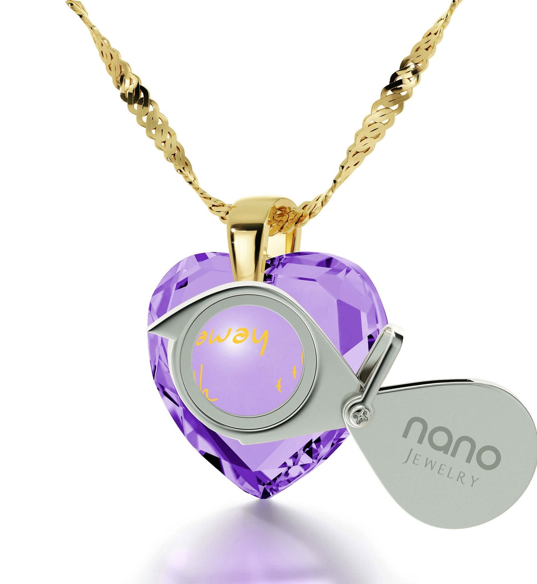 """What to Get Wife for Christmas,14k Gold Filled Fine Jewelry, Love Necklaces for Girlfriend, by Nano"""