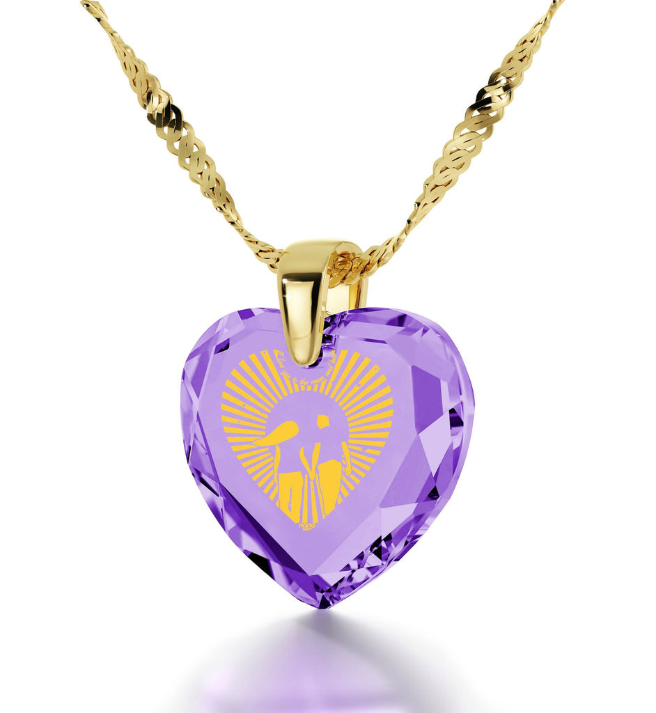"""What to Get Wife for Christmas, 24k Engraved Necklace, Top Gifts for Women, Nano Jewelry"""