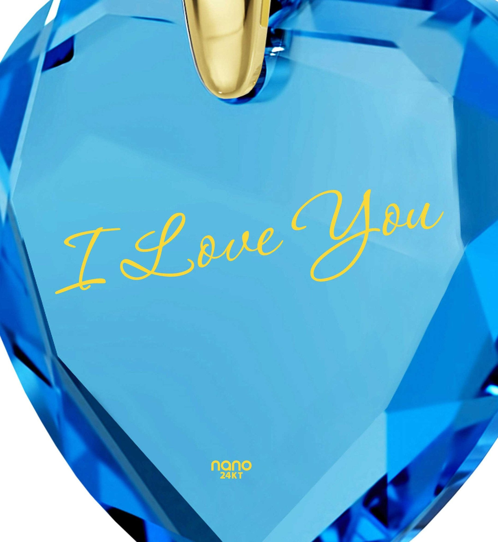 What to Get Wife for Christmas, Gold Filled Jewelry with Blue Heart Stone Pendant, 2nd Anniversary Gift Ideas