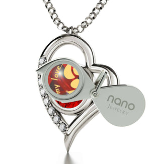 """What to Get Your Girlfriend forValentines Day, Cute Heart Frame Silver Jewelry, Xmas Ideas for Wife, by Nano"""
