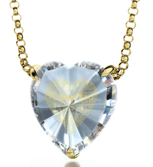 What to Get Your Girlfriend for Valentines Day, Love in Other Languages, CZ Crystal Heart, Good Anniversary Gifts for Her