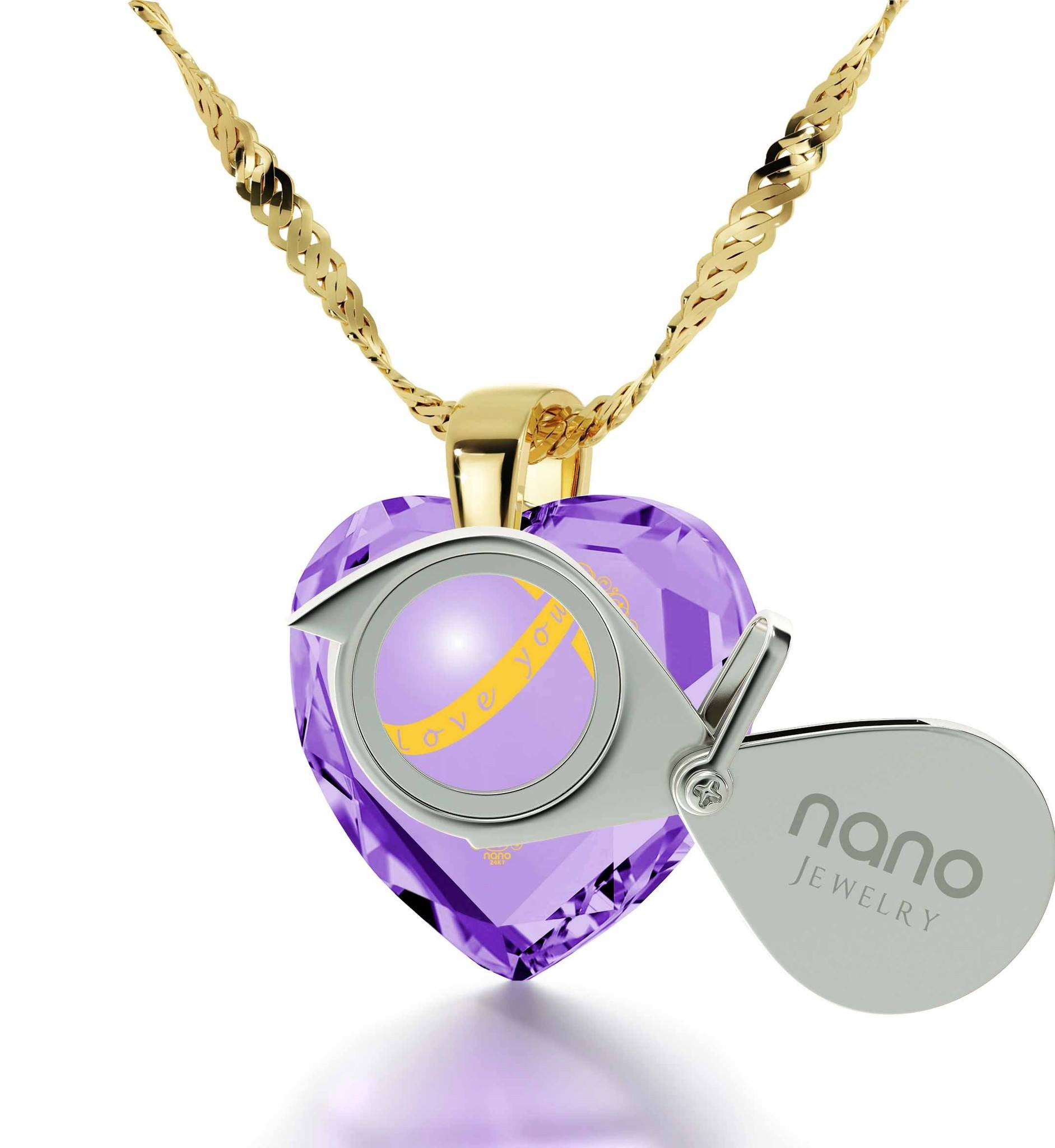 """Wife Birthday Ideas, 14k Gold Meaningful Necklace, Good Anniversary Gifts for Her, by Nano Jewelry"""