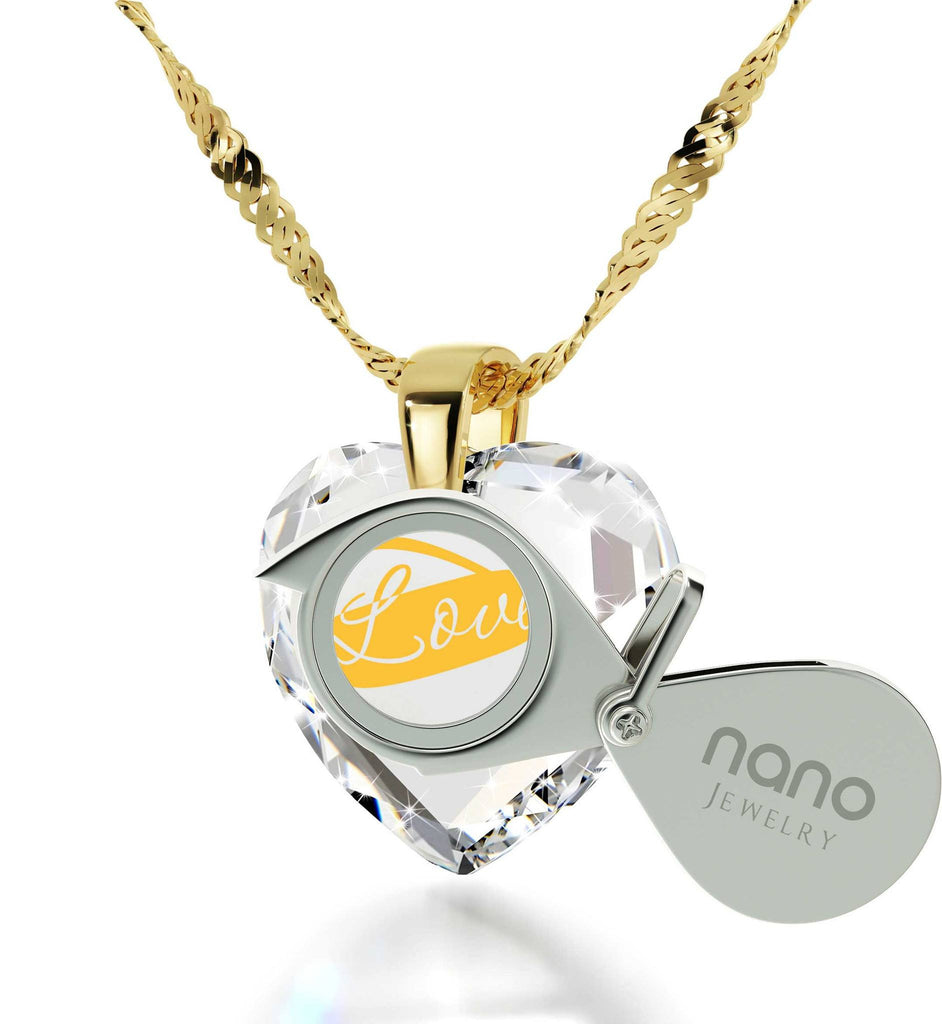 "Best Valentine Gift for Wife,""I Love You Infinity""Imprint, 14k Gold Necklace,Pure Romance Products, by Nano Jewelry"