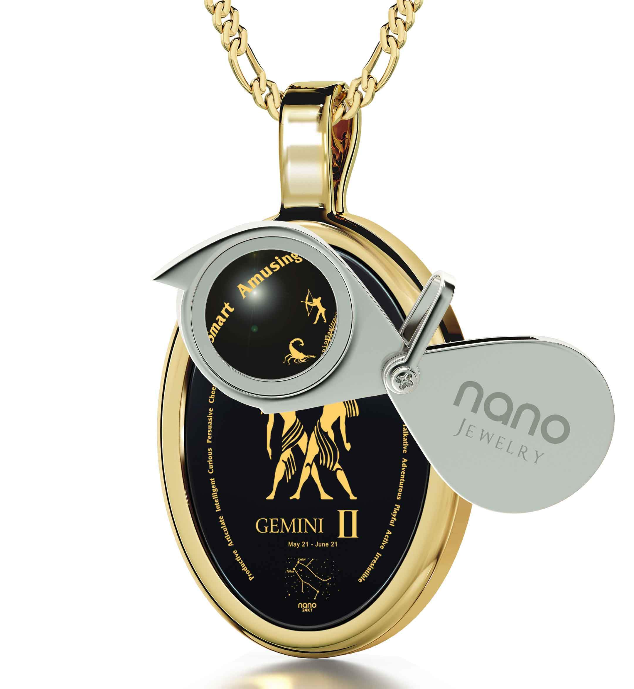 Wife Birthday Ideas: Zodiac Sign Necklace, Women's 14k Gold Jewelry, What to Buy My Girlfriend for Christmas by Nano