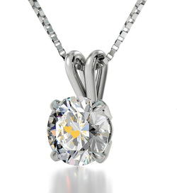 """""Will You Marry Me"" Engraved 24k Swarovski Crystal, Promise Necklace, Valentine's Gift for Her, Sterling Silver Jewel"""