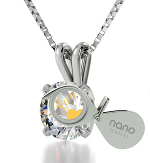 """""Will You Marry Me"" Engraved in 24k on Swarovski Crystal, Promise Necklace, The Love Necklace, 14k White Gold Solitaire"""