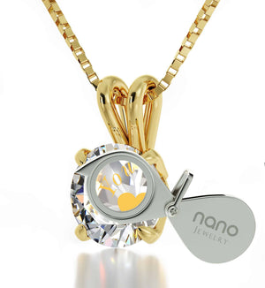 """""Will You Marry Me"" Engraved in 24k Swarovski Crystal, Romantic Ways to Propose, The Love Necklace, 14 Gold Solitaire"""