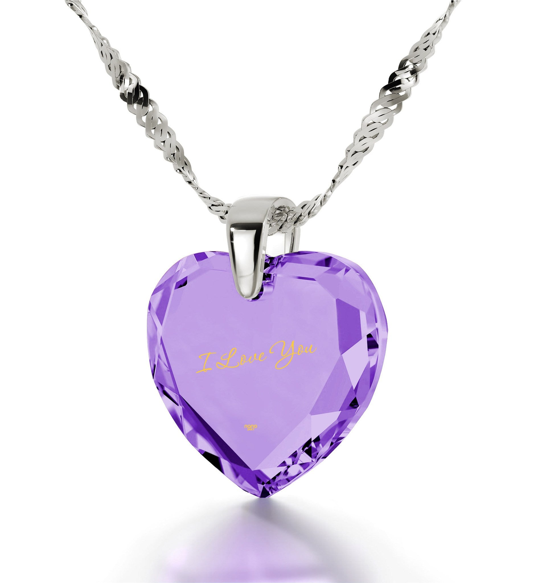 Women's Gifts for Christmas, I Love You Engraved Necklaces Birthday, Present Ideas for Girlfriend