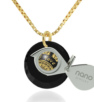 """Birthday Surprises for Her, ""I Love You to the Sun and Back"", Womens 14k Necklace, Girlfriend Christmas Gifts by Nano """