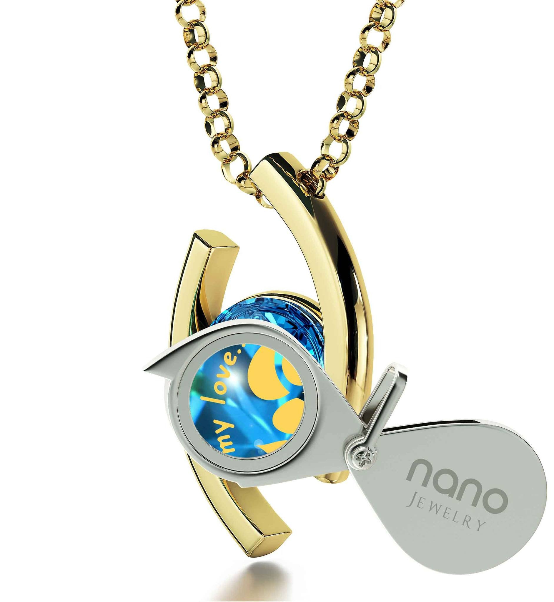 """Womens Christmas Ideas,""Take My Love..."" Unique Gold Jewelry, Gift for Wife Birthday, by Nano"""