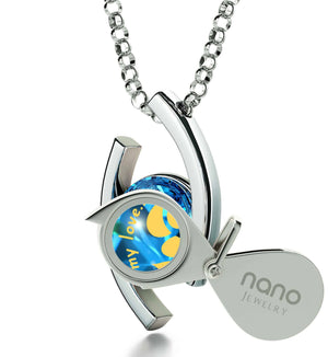 """Womens Christmas Ideas,""Take My Love..."" Unique Silver Jewelry, Gift for Wife Birthday, by Nano"""