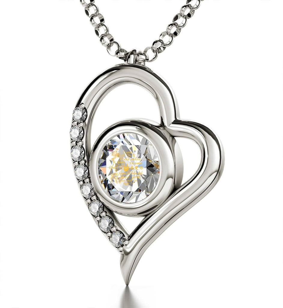 "Good Gifts for Girlfriend: ""I Love You"" in 12 Languages, Crystal Stone Jewelry, Womens Christmas Presents"
