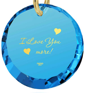 """Words of Affirmation Love Language, 24k Imprint, 14k Gold Chain Necklace, Love Gifts for Wife, Nano Jewelry"""
