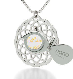 What to Get Girlfriend for Birthday,Sterling Silver, 24k Imprint, I Love You to The Moon and Back Jewelry, Nano