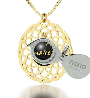 """Gift Ideas for Women,""I Love You More"" Engraved on Black CZ, Necklace for Girlfriend"""