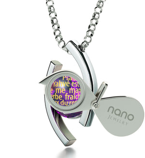 """Psalm 23 inFrenchin 24k: GoodGifts for GirlfriendChristmas, Christian Jewelry for Womenby Nano"""