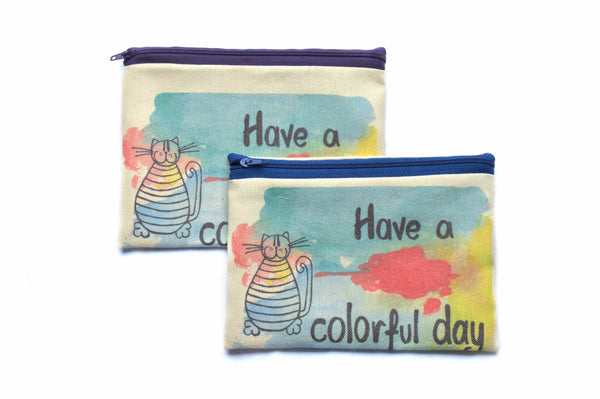 Colourful Day , Zipper Pouch/Purses - AHENQUE