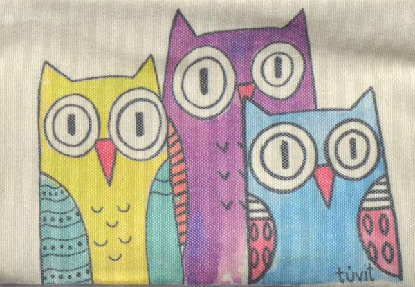 Frida-Triple Owl , Zipper Pouch/Purses - AHENQUE