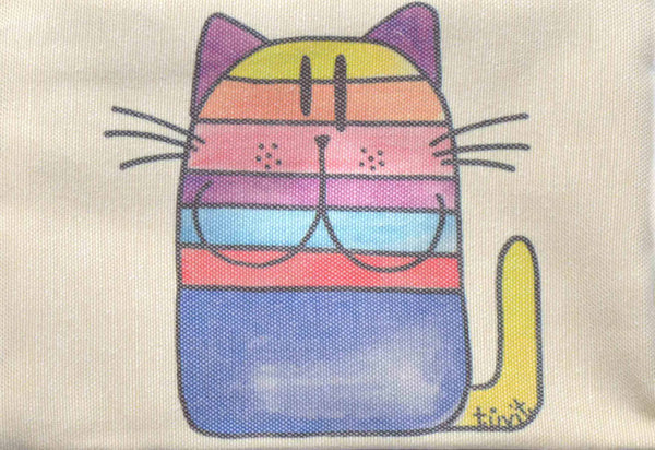Rainbow Cat, Zipper Pouch/Purses - AHENQUE