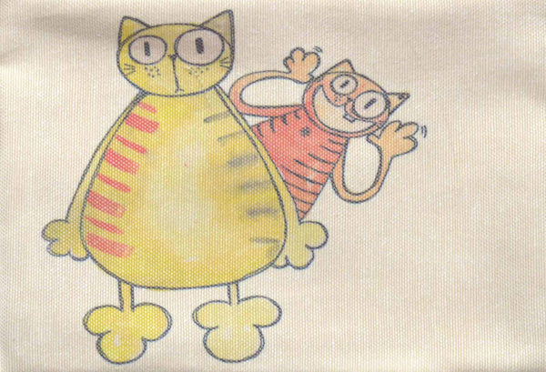 Two Cats , Zipper Pouch/Purses - AHENQUE