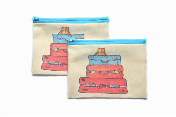 On Holiday , Zipper Pouch/Purses - AHENQUE