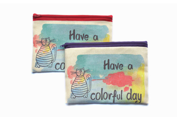 Colourful Day 2 , Zipper Pouch/Purses - AHENQUE