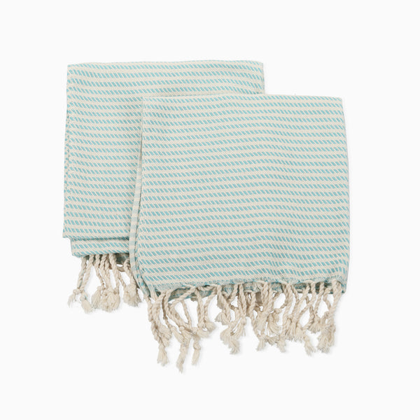 3 piece Hand-loomed Striped Elegant Cotton Towel Set, Bath Towel&Set of 2 Hand Towel/Kitchen Towel, Extra Soft Towel Set, Dries Easily