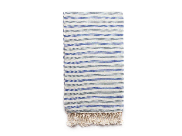 Handloomed Turkish Towel, Beach Towel/Bath Towel, Green, Blue - AHENQUE